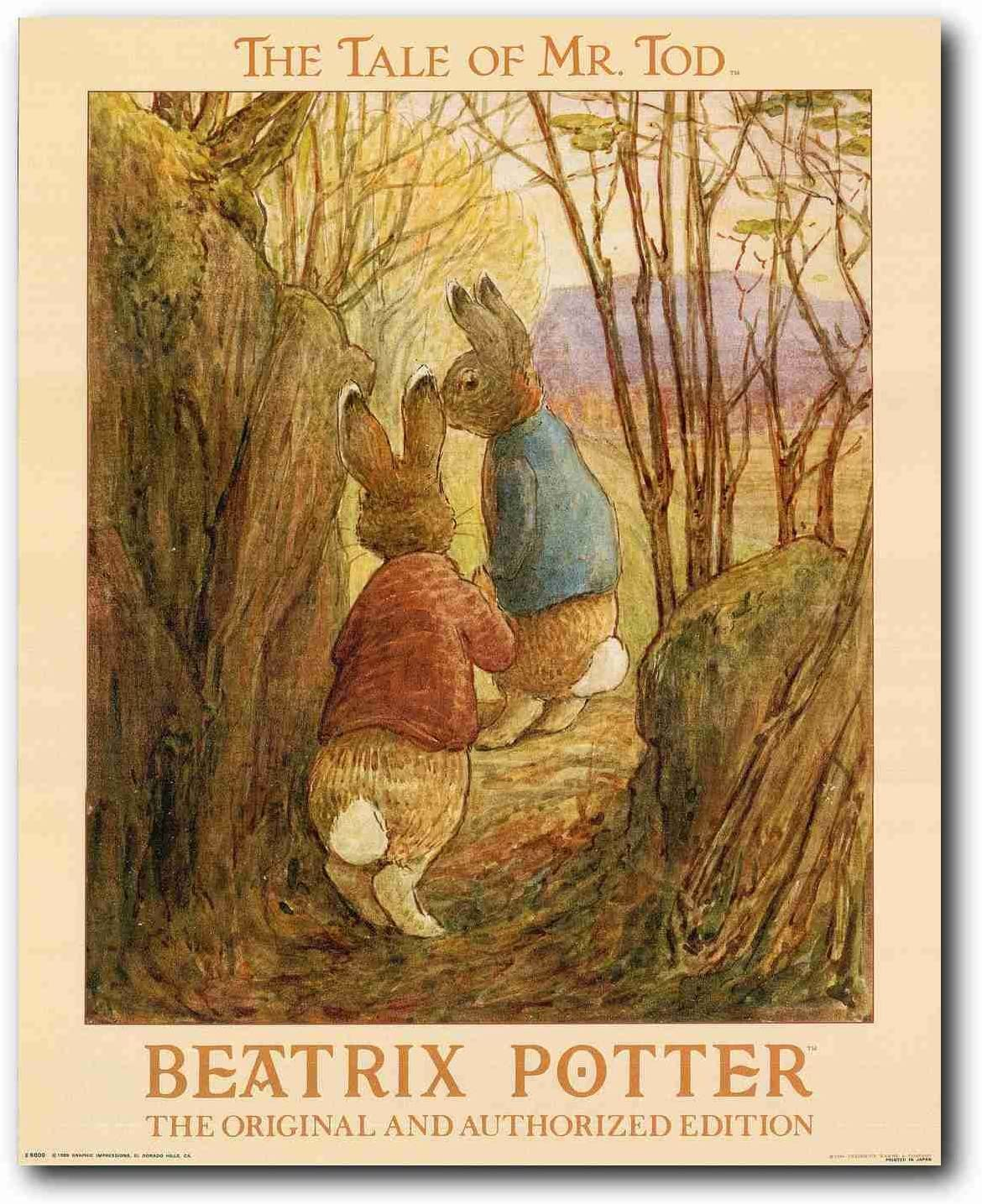 The Tale of Mr. Tod Beatrix Potter Original and Authorized Edition Wall Decor Art Print Poster (16x20)