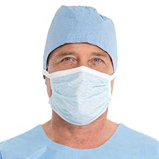 Kimberly-Clark Soft Touch II Surgical Mask (47500), Pleated with Horizontal Ties, Blue, 50 Masks/Box