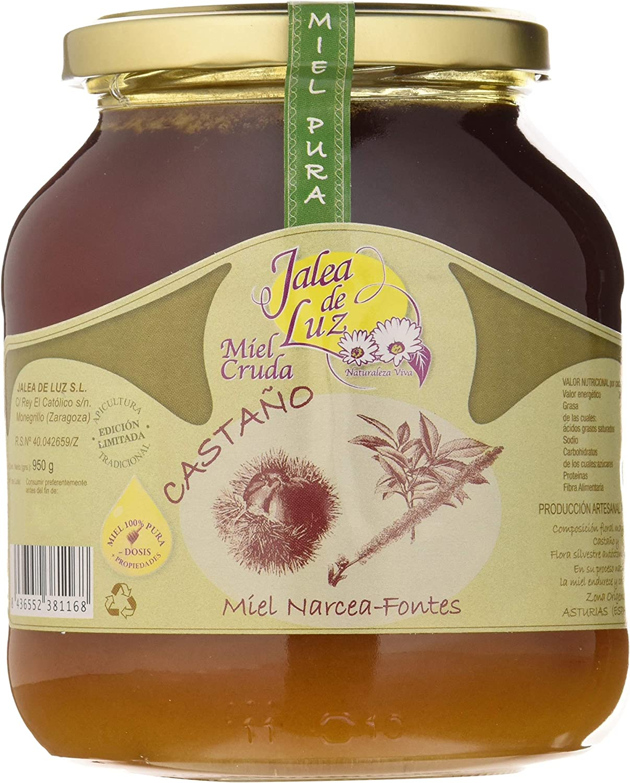 Jalea de Luz Miel Cruda Pura de Castaño - 950 gr.: Amazon.es: Alimentación y bebidas