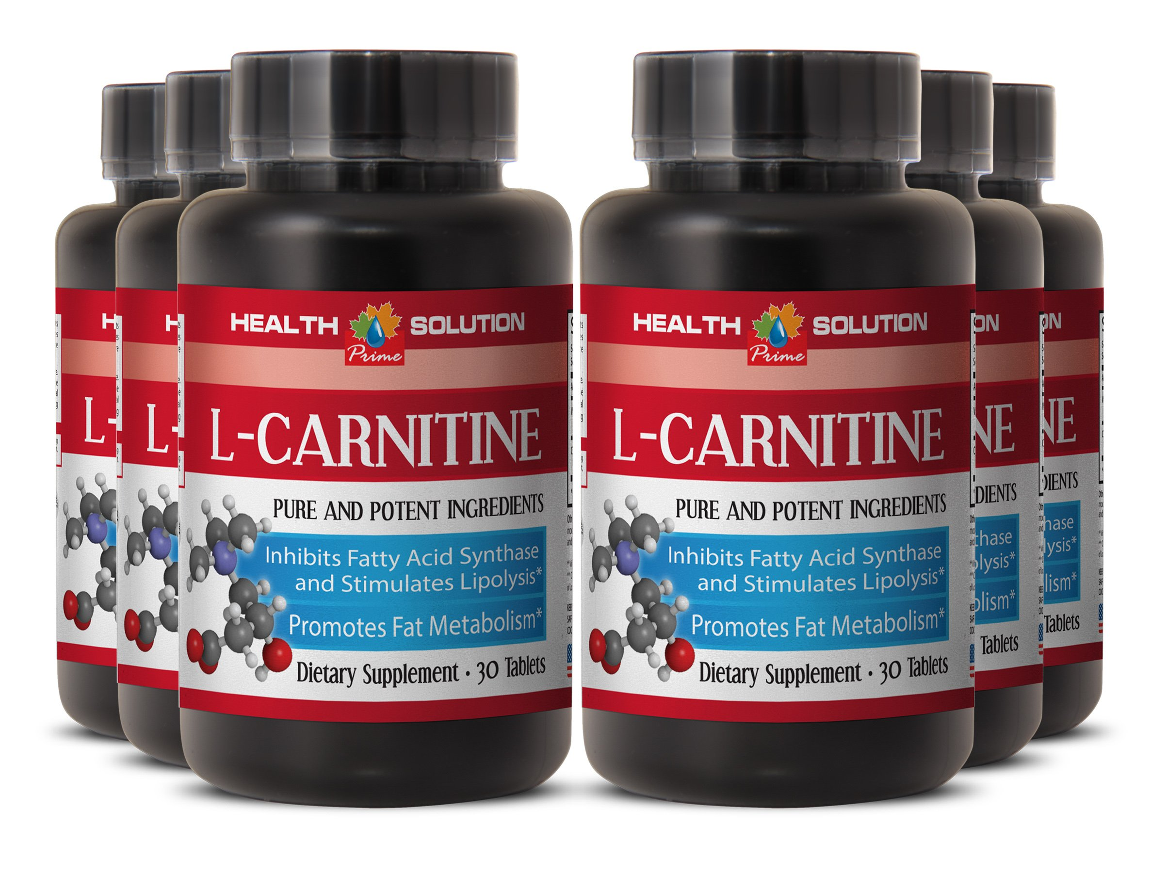 L-carnitine plus green coffee extract - L-CARNITINE 500MG- performance booster (6 Bottles) by Health Solution Prime