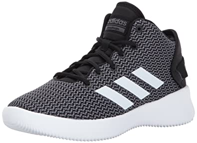 adidas NEO Men's CF Refresh Mid Basketball-Shoes, Black/White/Grey Five