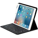 Sharon SI54284 Apple iPad 12.9 (2017) iPad Pro 12.9 Schutzhülle , Case mit Bluetooth-Tastatur Zubehör für iPad Pro Case, Smartcover Schutz Keyboard QWERTZ- Layout Schwarz