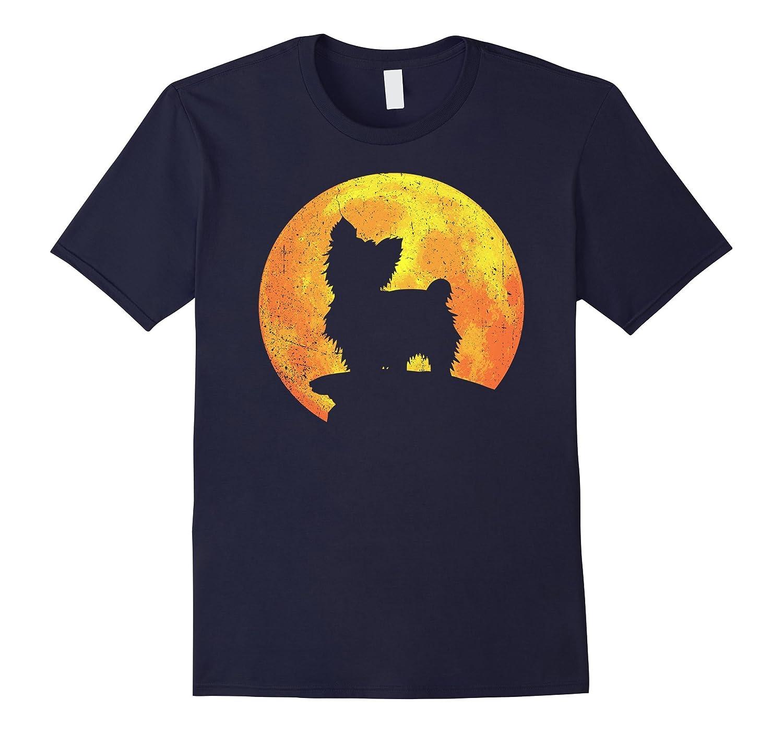 YORKIE Dog And Moon Halloween T-shirt Costume-Art