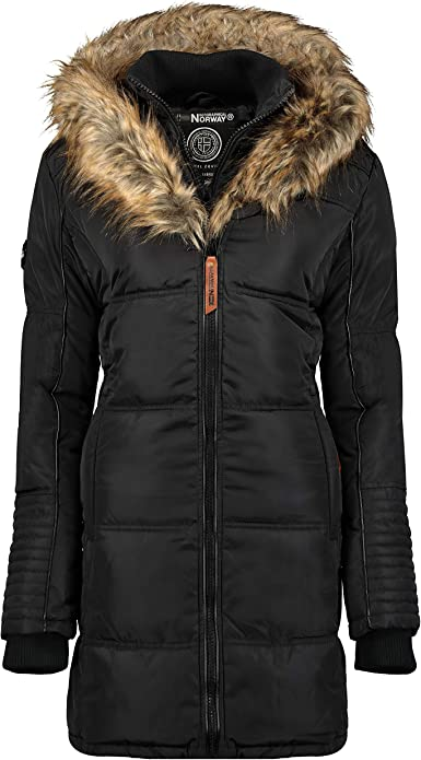 Comprar Geographical Norway Belissima - Chaqueta de invierno para mujer con capucha de piel XL Talla XL