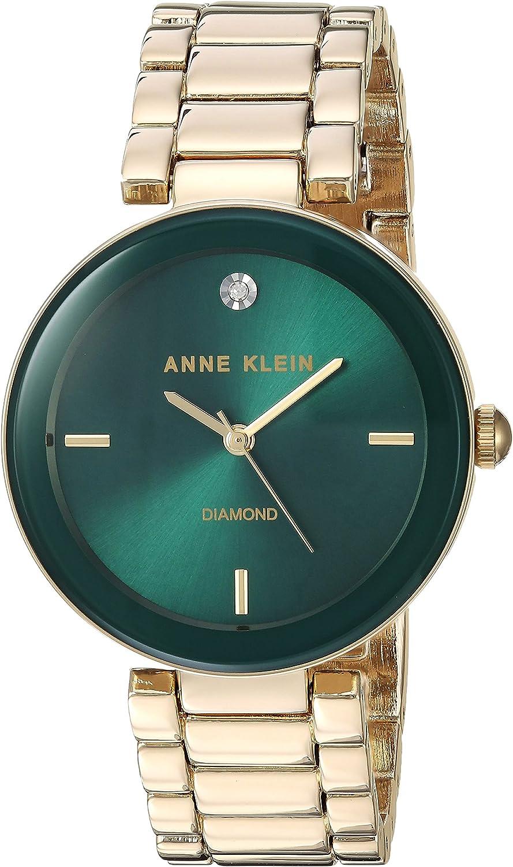 Anne Klein Women's Genuine Diamond Dial Bracelet Watch