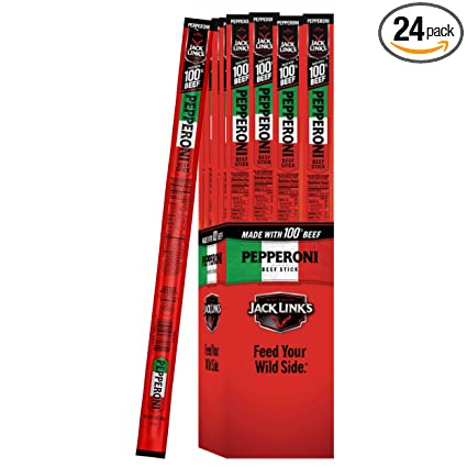 Amazon Com Jack Link S Beef Snack Stick Pepperoni 1 5 Ounce Sticks Pack Of 24
