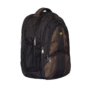 c9eff2ee5a New-Era Polyester 35 Ltr Black-Brown School Bag  school bags for boys