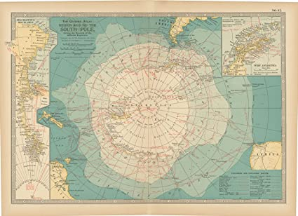 Amazon Com Historic Pictoric Map Antarctica 1914 Century Atlas