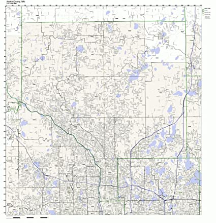 Anoka County Map Amazon.com: Anoka County, Minnesota MN ZIP Code Map Not Laminated