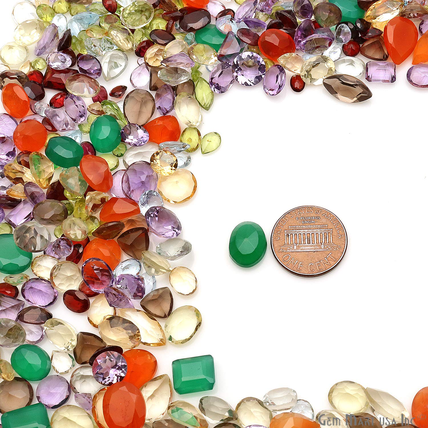 250 Carats Loose Mixed Gems Wholesale Lot Natural Faceted Semi Precious Gemstones Gemmartusa loose Gemstone