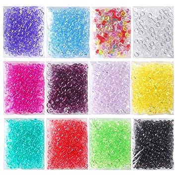 opount 12 unidades colores perlas de perlas de perlas de Pecera para crujientes Limo 12,