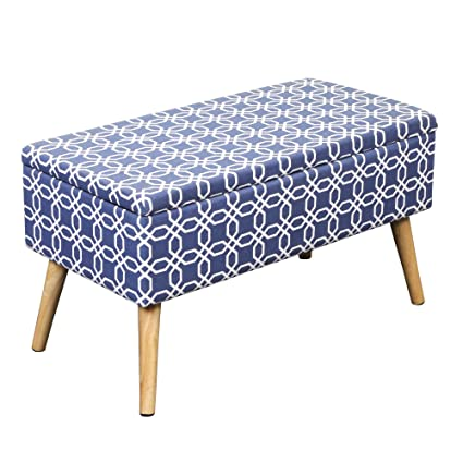 Perfect Otto U0026 Ben 30u0026quot; Storage Bench   Mid Century Ottoman With EASY LIFT Top,