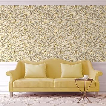 Schöne Weiden Tapete U0026quot;Magic Willowu0026quot; Mit Blätter Dekor In Gelb  Angepasst An Little
