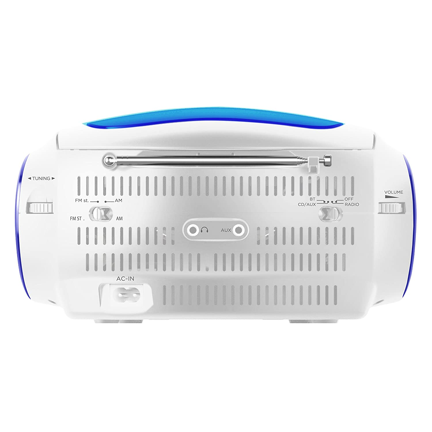 Ematic EBB9224RD CD Bluetooth Boombox Red