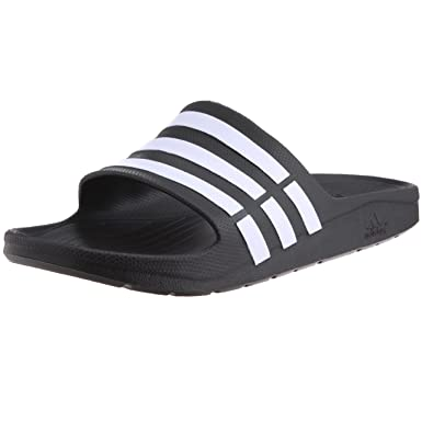 quality design 897c7 5da5d Adidas Duramo Slide G15890 Men Sandals Slides BlackWhite-105