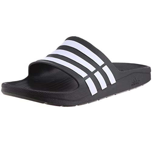 5dc300ad9 Adidas Men s Duramo Slide Black and White Flip-Flops and House Slippers -  11 UK