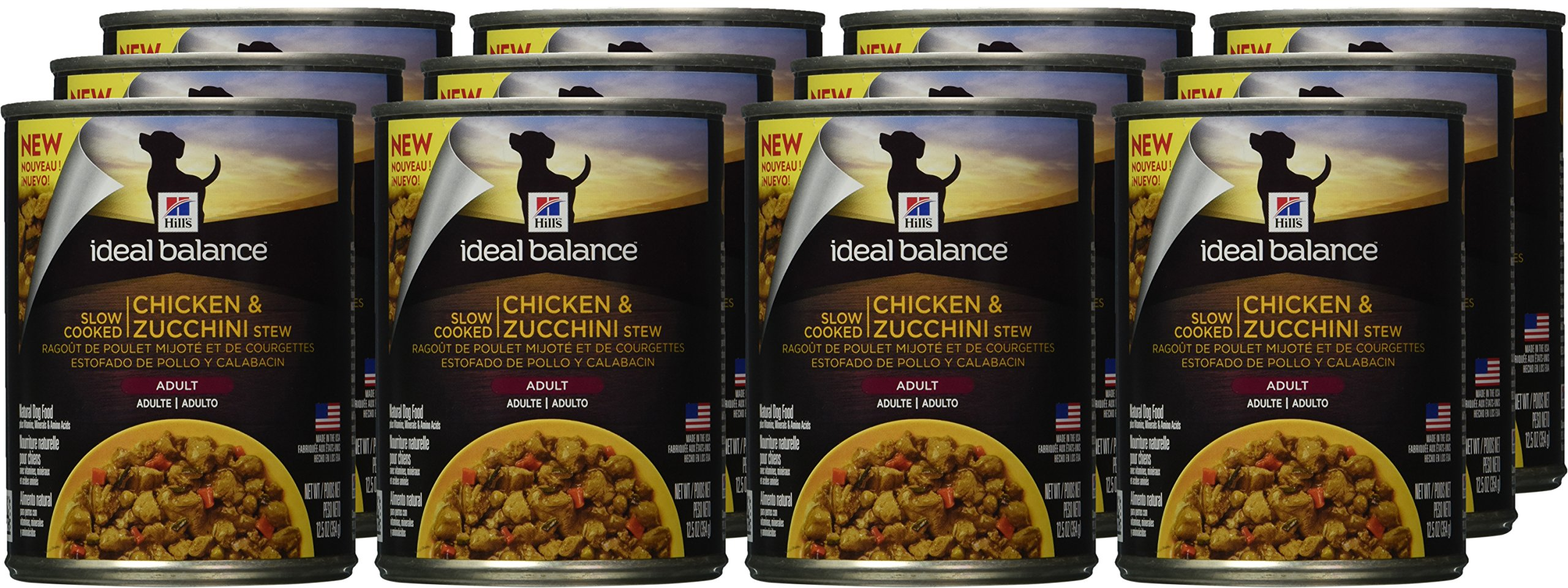 Hill's Ideal Balance Adult Wet Dog Food, Slow Cooked Chicken & Zucchini Stew Canned Dog Food, 12.5 oz, 12 Pack by Hill's Ideal Balance (Image #2)