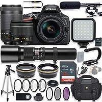 Nikon D5600 24.2 MP DSLR Camera Video Kit with AF-P 18-55mm VR Lens, AF-P 70-300mm ED VR Lens & 500mm Lens + LED Light + 32GB Memory + Filters + Macros + Deluxe Bag + Professional Accessories