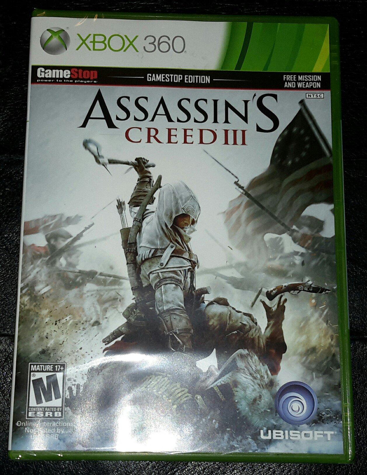 Amazon com: Assassins Creed III GameStop Edition: Video Games
