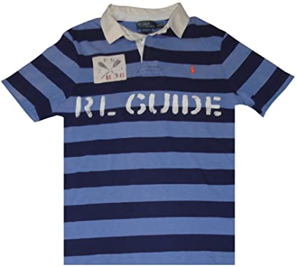 Polo Ralph Lauren - Hombre Custom Fit Rayas Rugby - -: Amazon.es ...