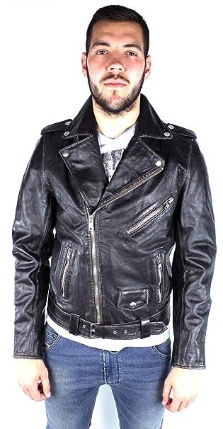b2b0f77d6 Diesel L-Umenirok 900 Leather Jacket: Amazon.ca: Clothing & Accessories