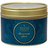 """Shearer Candles Small """"Cinnamon Spice"""" Scented Tin Candle, Teal"""