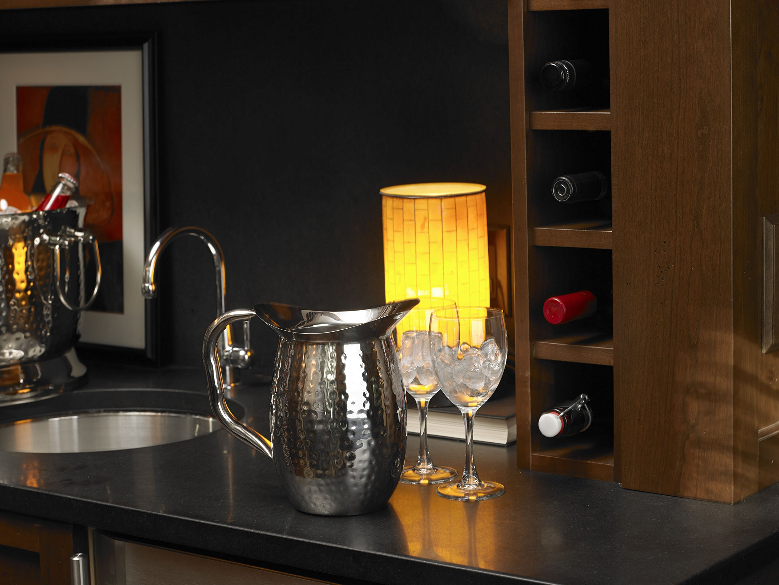Artisan 2-Quart Double-Wall, Stainless Steel Insulated Serving Pitcher with Hammered Texture by Artisan (Image #6)