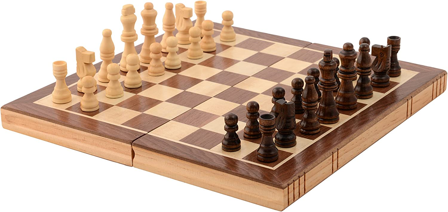 Chess Pieces and Rollable Board Fold Chess Piece Set 16x16 inch Canghai Travel Chess Game Set