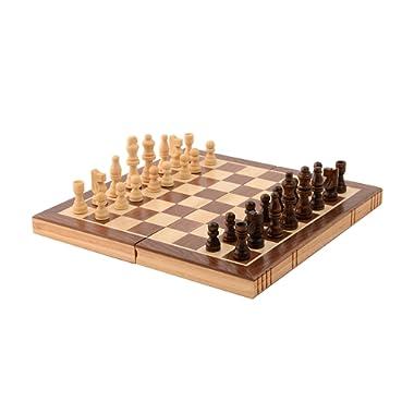 Kangaroo's Folding Wooden Chess Set with Magnet Closure