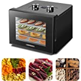 Food Dehydrator Machine - Digital Adjustable Timer and Temperature Control Dryer Dehydrators for Food and Jerky, Herbs, Meat,