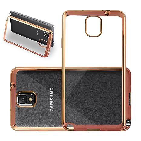 Cadorabo Samsung Galaxy Note 3 Funda de Silicona TPU Cromo en Cromo Oro – Cubierta Protectora Super Delgada e Flexible con Antichoque – Gel Case Cover ...
