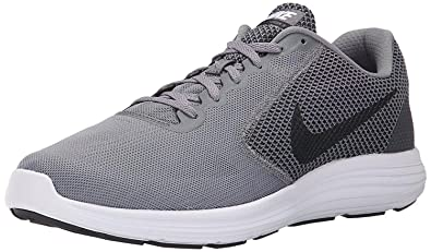 e14f6defff9cd1 Nike Men s Revolution 3 Grey Running Shoes (UK-8 (US-9))  Buy Online ...