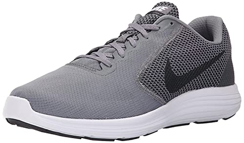 7e3a207ce84 Nike Men s Revolution 3 Grey Running Shoes (UK-8 (US-9))  Buy Online ...