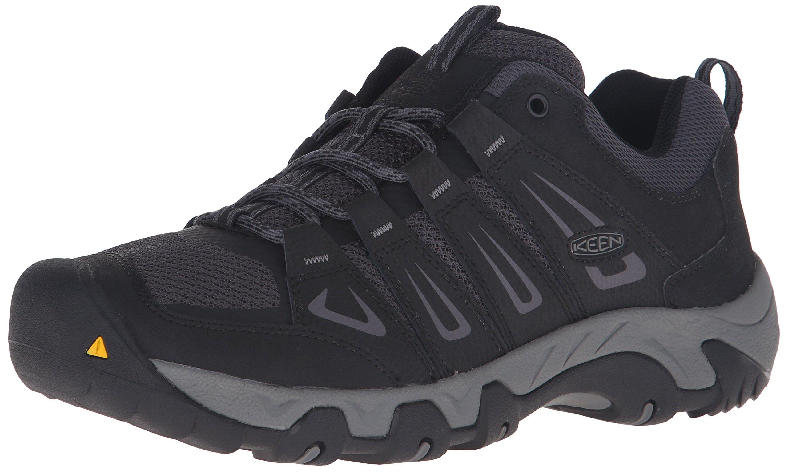 KEEN Men's Oakridge Shoe, Black/Gargoyle, 10 M US