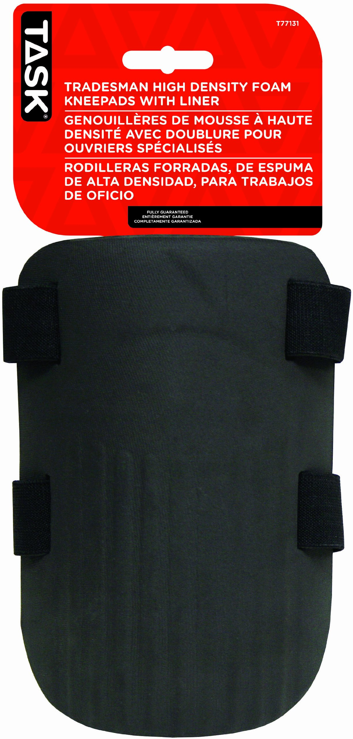 Task Tools T77131 Tradesman High-Density Foam Kneepads with Liner