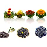 Tea Beyond Gourmet Blooming tea Tea Combo Fab Flowering Tea (4 ct) Jasmine (20g) Natural Earl Grey (20g) Caramel Black(20g)