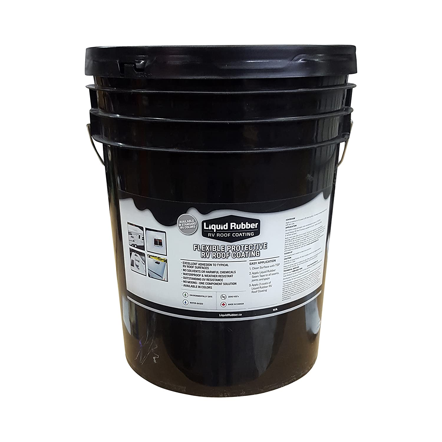 liquid rubber rv roof coating white 5 gallon
