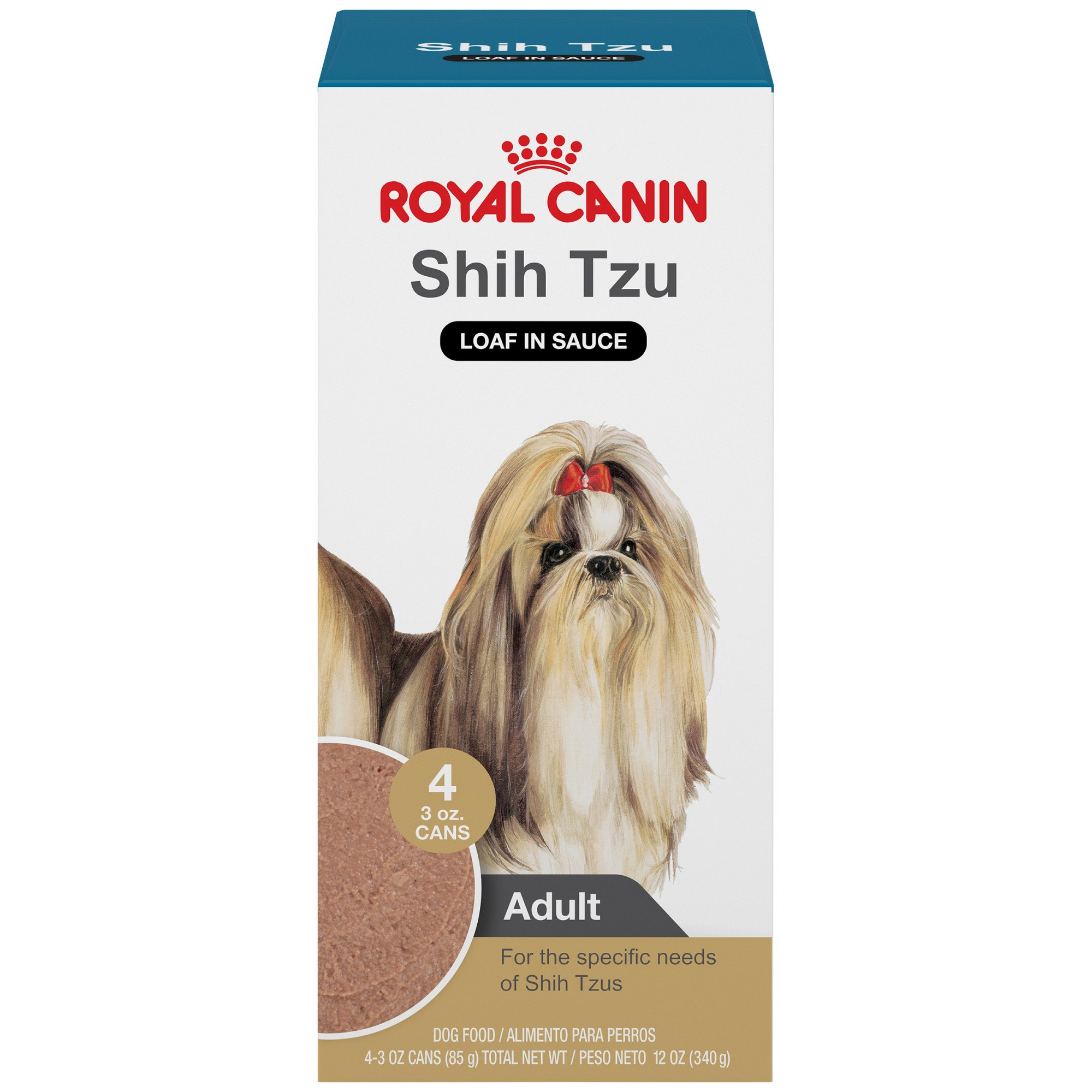 Royal Canin Shih Tzu Loaf In Sauce Dog Food, 3 Ounce Cans, Package of 4 cans