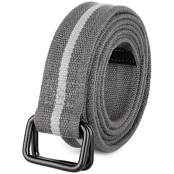 Amazon.com: Drizzte - Cinturón de lona para hombre (39-71 ...