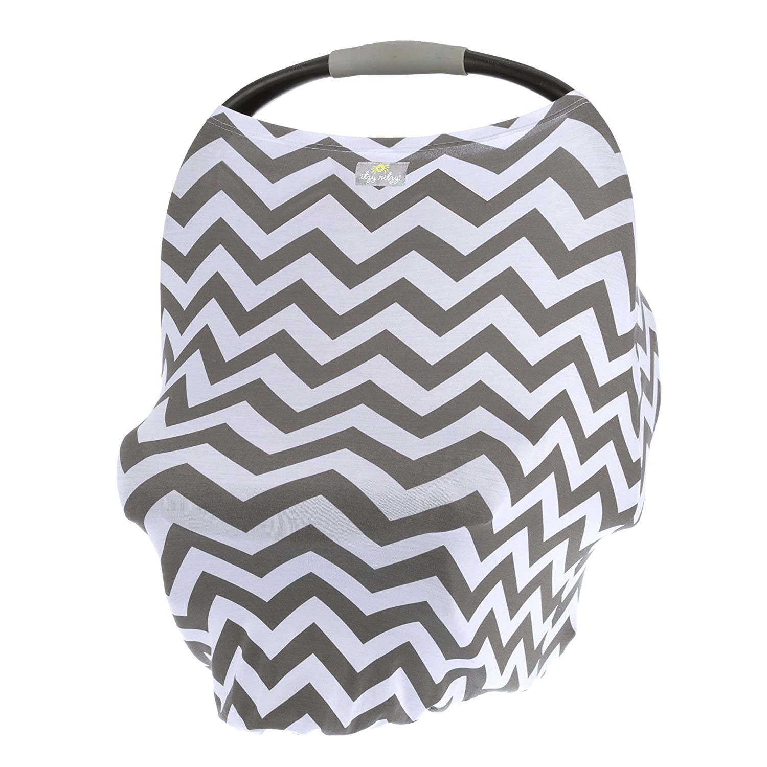 Car Seat Canopy Multi-Use Mom Boss Breastfeeding Cover Cart Cover /& Scarf Black /& White Stripe Shopping Cart Cover and Infinity Scarf /& Breathable Itzy Ritzy 4-in-1 Nursing Cover Car Seat Cover