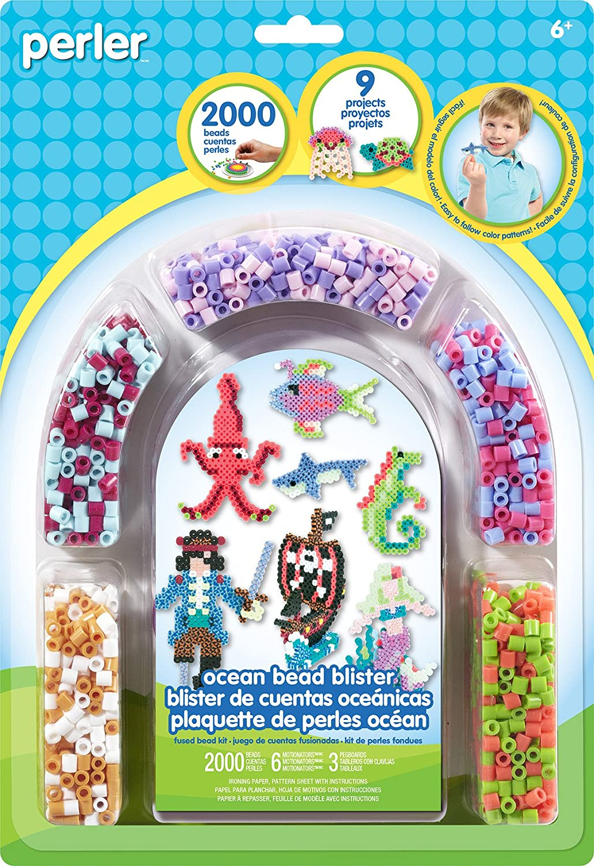 2009 pcs Simplicity Creative Corp Perler Beads Ocean Pirate Fuse Bead Activity Kit for Kids 80-62872