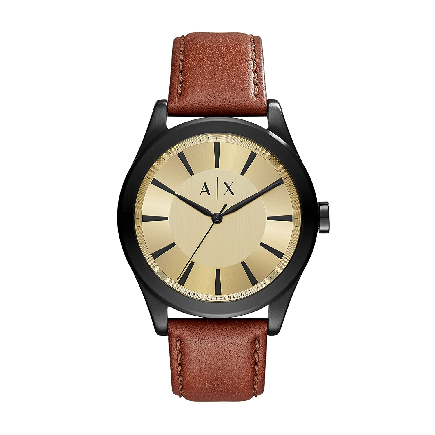 A X Armani Exchange Stainless Steel Sunray Leather Two Piece Strap Watch