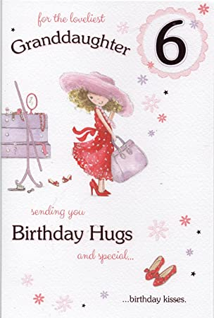 Granddaughter 6th Birthday Card Amazon Office Products