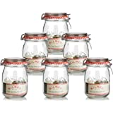 6 x Kilner Traditional 1 Litre Airtight Clip Top Preserve Glass Storage Jars