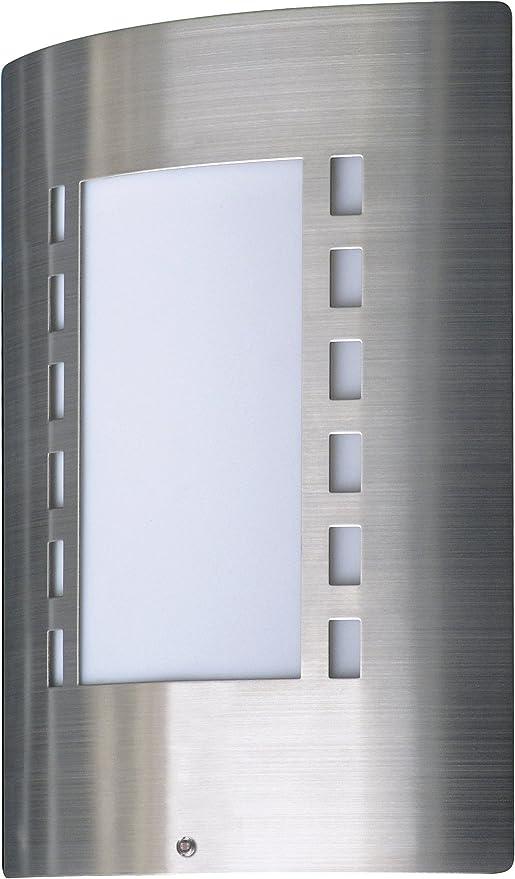 Ranex 5000.087 Messina Lampada da Parete con Interruttore Crepuscolare Acciaio S