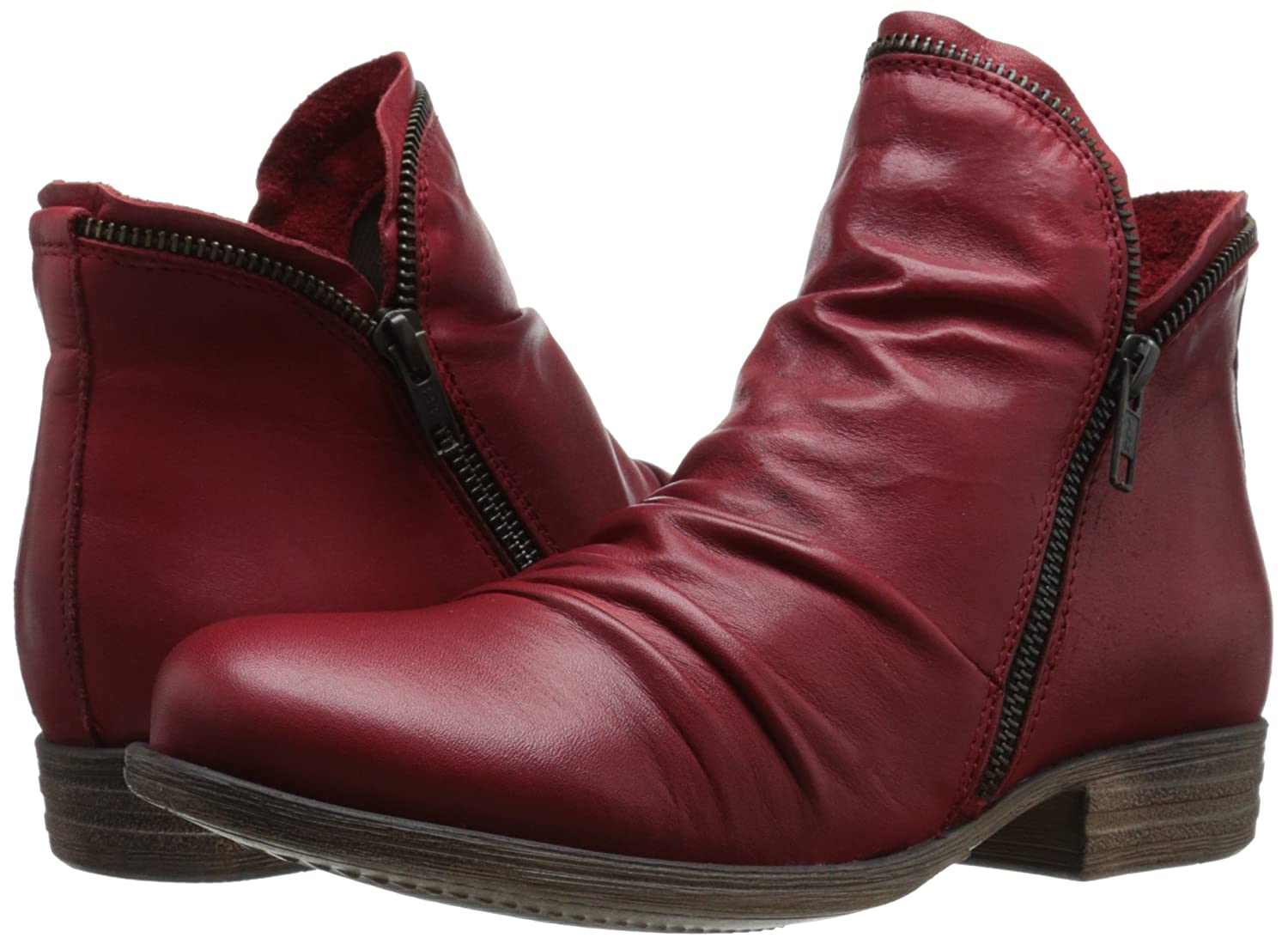 Miz Mooz Women's Luna Ankle Boot B00WGVHDJ2 6 B(M) US Red