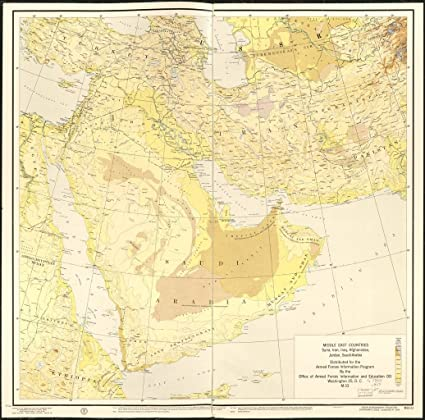 Amazon.com: Home Comforts LAMINATED POSTER Map of Middle East ...