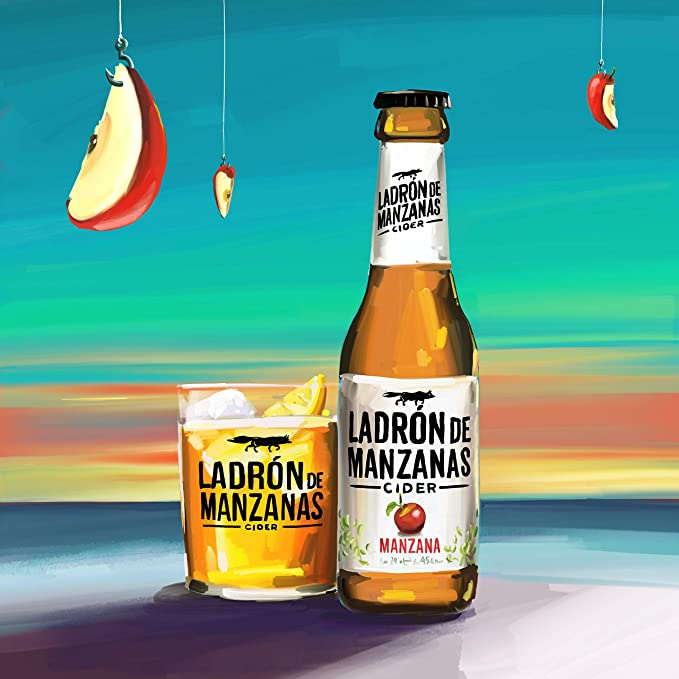 Ladrón de Manzanas Cider Manzana - Caja de 6 Botellas x 750 ml - Total: 4.5 L