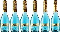 Don Luciano Blue Moscato Vino Espumoso Natural - Pack de 6 Botellas x 750 ml
