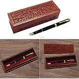 Cadeau de Noël ou d'anniversaire Wooden Pencil Box, conception de fleur Sculpture Travail Pen Box, boîte de rangement 8inch.